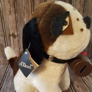 Vintage St. Cunard stuffed Bernard dog